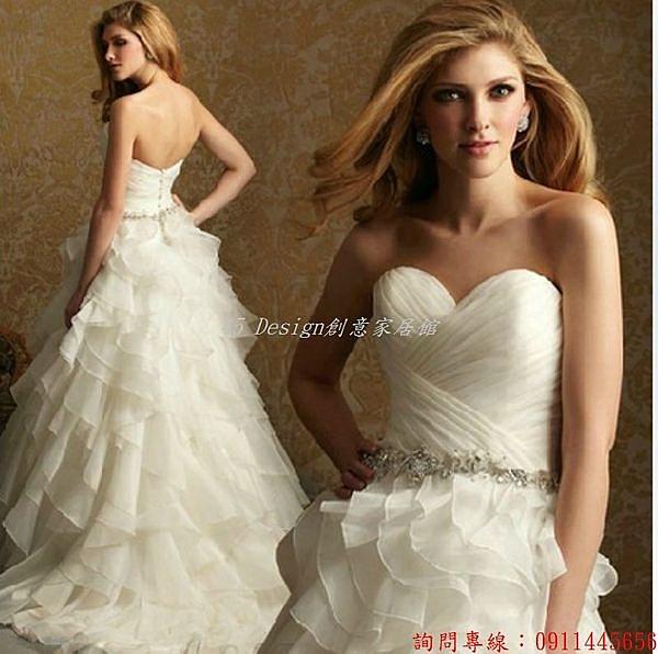 (45 Design) 客製化 預購7天到貨   人氣新娘婚紗禮服 新款結婚韓版拖尾婚紗超顯瘦抹胸公主婚紗