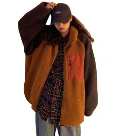 TEAFOR ボアジャケット ボアブルゾン レディース フリース ブルゾン 大きいサイズ ボア コート 長袖 フリースジャケット アウター もこもこ アウトドア 厚手 保温 防寒 ゆったり 暖かい 可愛い 人気 カジュアル 女性用 秋冬 ジャケット