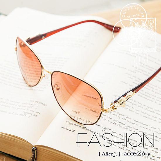 華麗時尚狐狸雷朋太陽眼鏡墨鏡-4色