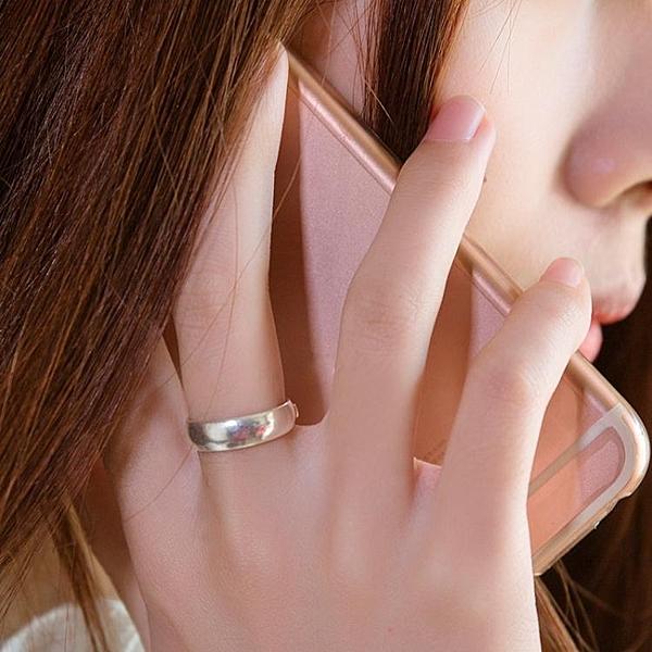 戒指 順欽銀樓足銀戒指 s999純銀飾品光面情侶戒指手工戒指情人節禮物 莎瓦迪卡