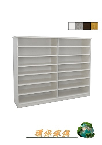 【環保傢俱】塑鋼開放式鞋櫃.塑鋼置物櫃(整台可水洗) 223-01
