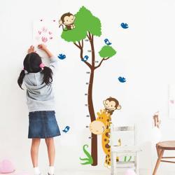 【半島良品】DIY無痕創意牆貼/壁貼-猴塞雷身高貼 AY867大
