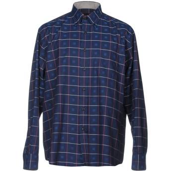 《セール開催中》MIRTO メンズ シャツ ダークブルー 5 コットン 100%