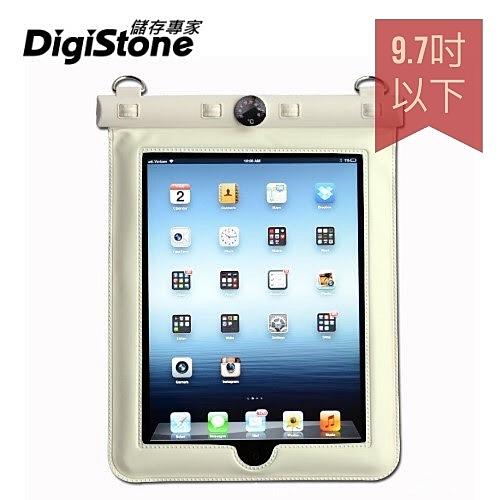 【2件85折+免運】DigiStone 平板防水袋 iPad 9.7吋平板電腦防水袋 保護套(溫度計型)適9.7吋以下-白x1