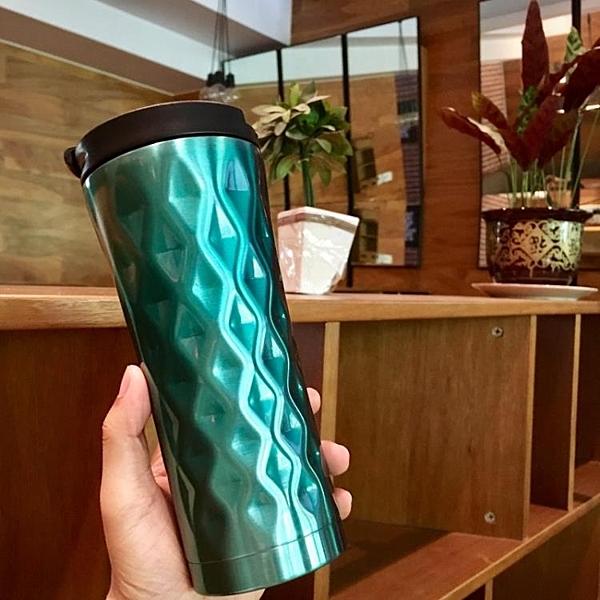 咖啡保溫杯女便攜男學生韓版清新定制大容量茶杯便攜不銹鋼水杯子
