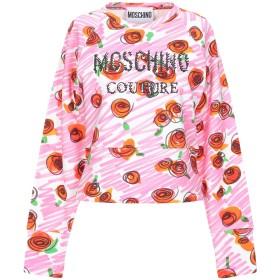 《セール開催中》MOSCHINO レディース スウェットシャツ ピンク 40 コットン 100%