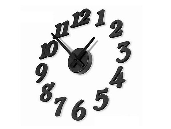 創意DIY牆面自黏數字掛鐘 靜音機蕊 藝術鐘錶 數字時鐘 壁鐘 牆面鐘【TA070】《約翰家庭百貨