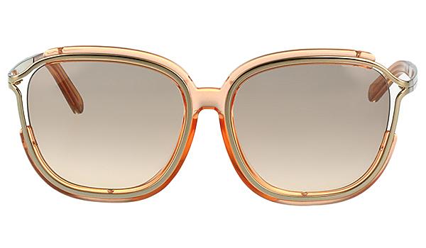 CHLOE 太陽眼鏡 方框 經典款 透明粉膚色 CE694SA-749