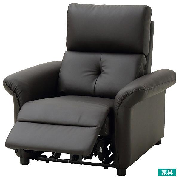 ◎耐磨皮革 1人用電動可躺式沙發 N-SHIELD PUR DBR NITORI宜得利家居