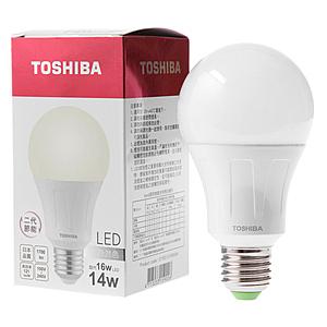 日本 TOSHIBA 東芝照明 14W LED廣角球泡型燈泡 自然光色