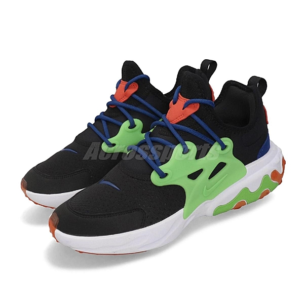 Nike 休閒慢跑鞋 React Presto GS 黑 綠 女鞋 大童鞋 運動鞋 【ACS】 BQ4002-006