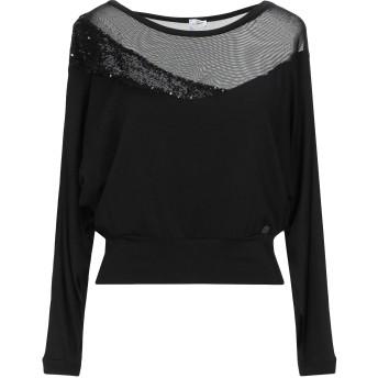 《セール開催中》GIL SANTUCCI レディース スウェットシャツ ブラック M レーヨン 80% / ポリエステル 10% / ポリウレタン 10%