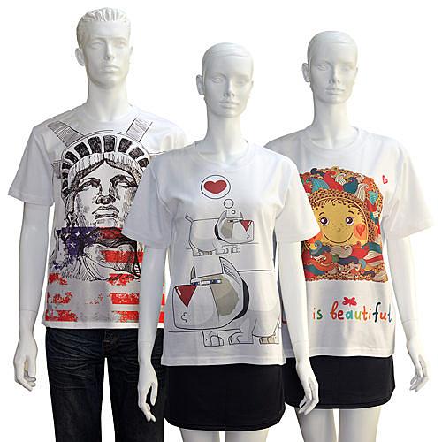 【客製化】A90-100-081 全彩昇華熱轉印棉T-shirt (白T)