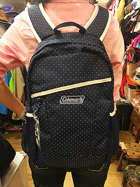 Coleman 美國品牌 電腦/健行 雙肩背包 海軍圓點藍 (CM-32860M000) (25L) 贈送束口袋
