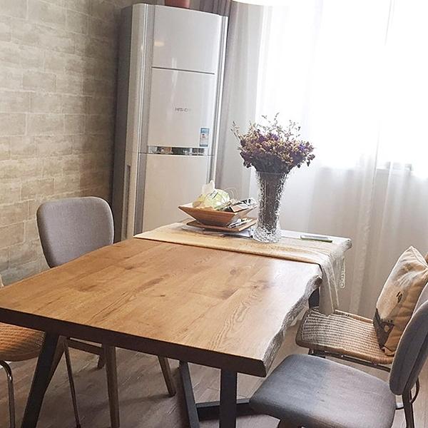 餐桌 北歐風實木餐桌工業風鐵藝實木辦公桌loft復古咖啡桌簡約時尚飯桌 莎瓦迪卡