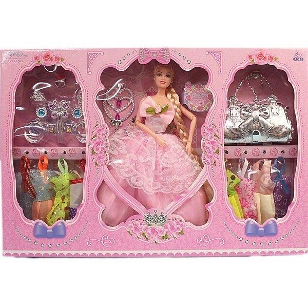 11吋 芭比娃娃 8件衣服 配件FQ848/一盒入(促299) 九關節洋洋娃-CF145061
