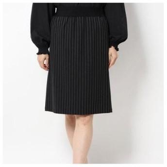 バゼーヌ BAZAINE リバーシブルタイトスカート (ブラック)