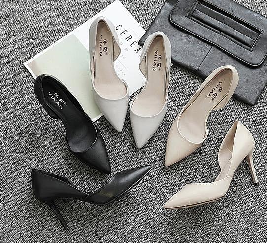 高跟鞋春季2020新款冬新娘鞋尖頭白色細跟女鞋婚鞋伴娘鞋小碼單鞋