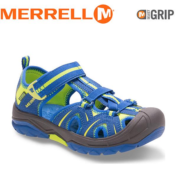 【MERRELL 美國 兒童 HYDRO《亮藍/黃》】MC56929/兒童涼鞋/休閒鞋/運動健走鞋