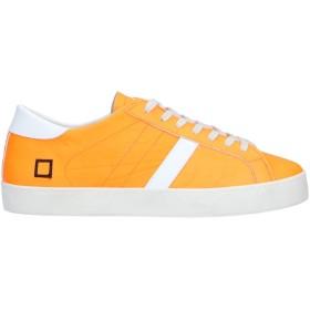 《セール開催中》D.A.T.E. メンズ スニーカー&テニスシューズ(ローカット) オレンジ 40 革