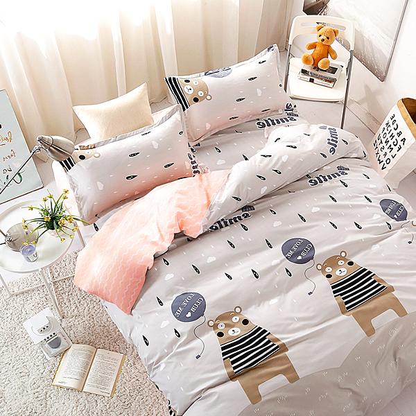 Artis台灣製 - 雙人加大床包/枕套三件組【熊出沒】雪紡棉