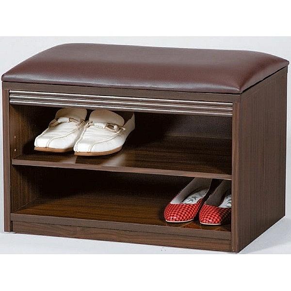 鞋櫃 AT-890-9 賓特利胡桃2尺坐椅鞋架【大眾家居舘】