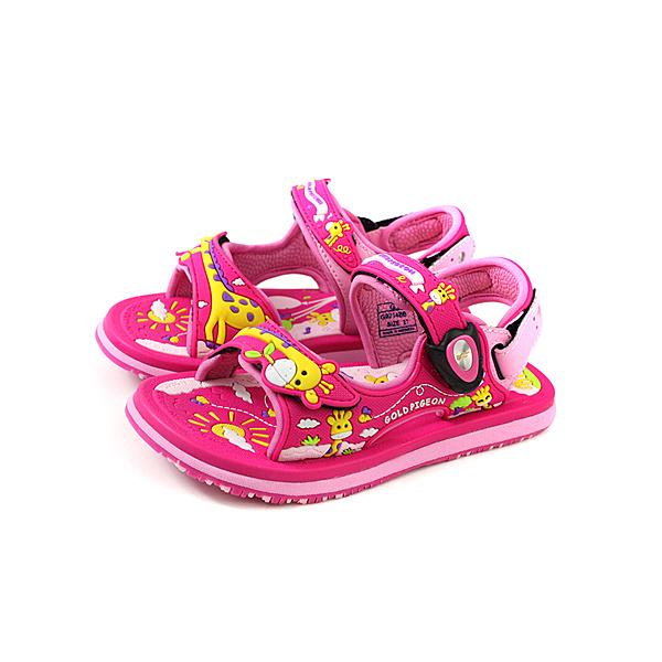 G.P(GOLD PIGEON) 涼鞋 防水 雨天 桃紅色 長頸鹿 中童 童鞋 G9214BB-45 no980
