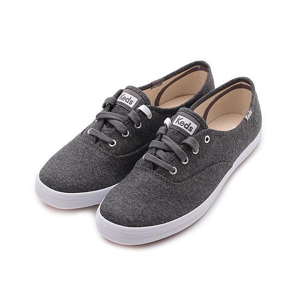 Keds CHAMPION 玩色經典綁帶休閒鞋-碳灰