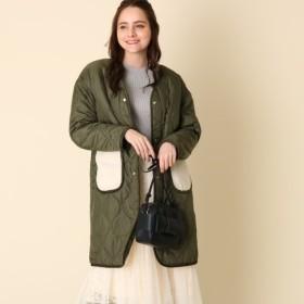 [マルイ] ボアポケットキルトコート/クチュールブローチ(Couture Brooch)