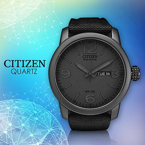 CITIZEN 星辰手錶專賣店 BM8475-00F 男錶  Eco-Drive光動能 日系 造型尼龍帆布錶帶 強化礦物玻璃鏡面