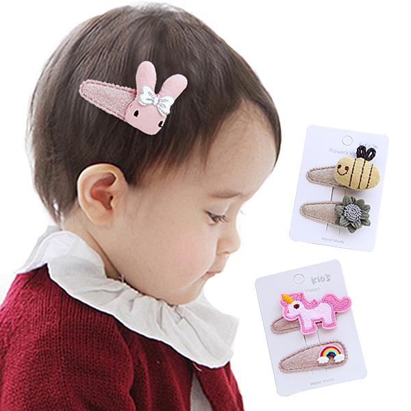 2入組兒童髮夾BB夾 花朵寶寶髮夾 兒童髮飾-JoyBaby