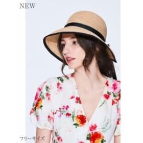 帽子 レディース ストローハット ペーパー ペーパーブレードハット 春 夏 つば広 シンプル 無地 日焼け対策 UV