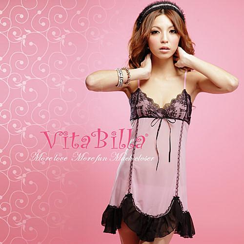 【伊莉婷】VitaBilla 絕品美人 LUCKMATE 幸福儷人 睡裙+小褲 二件組