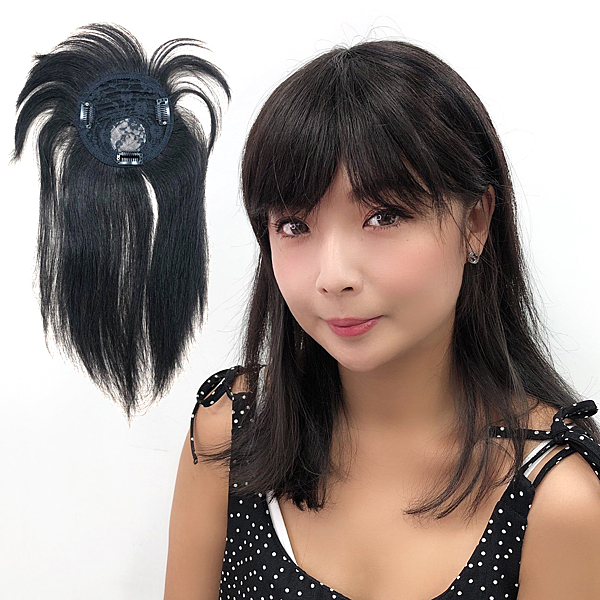 頭頂髮片無接縫 少女髮妹妹頭劉海 100%真髮瀏海 遮白髮 H910D 魔髮樂Mofalove