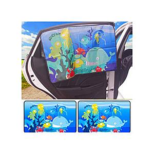 磁吸式簡便汽車遮陽簾-海底世界後窗2片