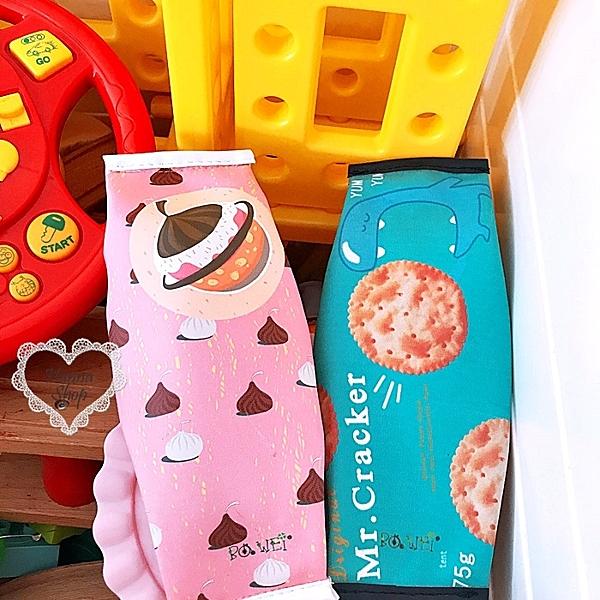 《花花創意会社》曲奇餅干零食圖案筆袋化粧包.二色【H4223】