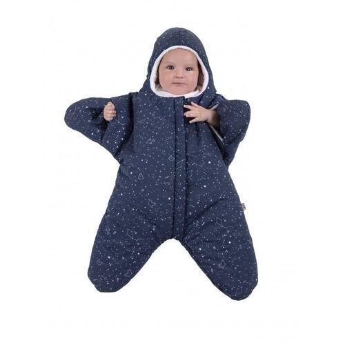 BabyBites 西班牙鯊魚咬一口 嬰兒包巾睡袋(標準版)小海星-午夜藍★衛立兒生活館★