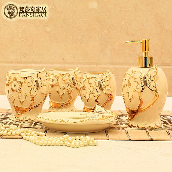衛浴五件套  歐式奢華陶瓷浴室洗漱用品