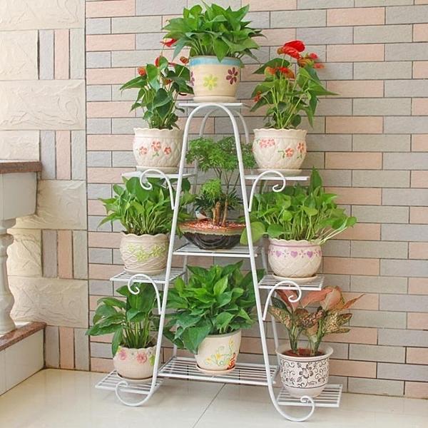 花架 花架子多層室內陽台置物架鐵藝實木客廳省空間花盆落地式綠蘿T