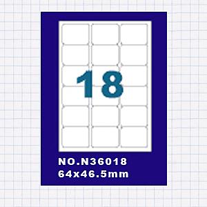 (5包)OGI A4標籤貼紙3欄6列/50張入 四邊圓角留邊 雷射.噴墨.點距陣各式列表機專用 標籤貼紙No.N36018