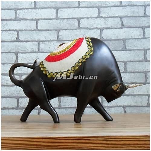 東南亞風格  復古擺件 動物 擺設 鬥牛
