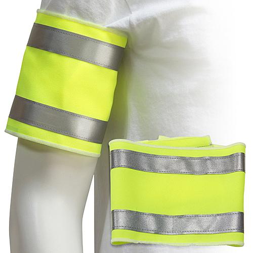 [客製化]  長尺寸螢光臂章+安全反光條 S1-18007L