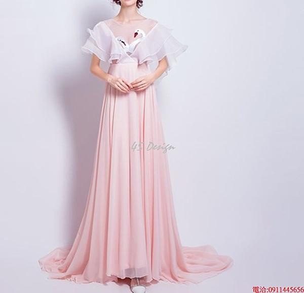 (45 Design)    7天到貨 客製化顏色大尺碼訂做訂做 日韓婚紗禮服 高級訂製服 連身裙 小禮服24