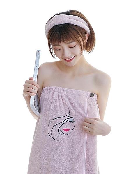 浴巾非純棉成人 柔軟吸水可愛韓版抹胸浴裙可穿浴巾女 青木鋪子