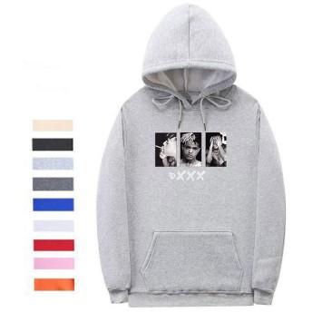 LittleCat XXXヒップホップアーティストのアバターフード付きのセーター、男性用のセーター3Dプリント、カップルアウトドアレジャーのセーター (色 : Gary 0225, Size : XL)