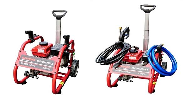 [ 家事達 ] MAX-POWER -輕便型 引擎高壓清洗機-124 bar  洗車機