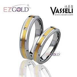 VASSELI ◤香榭大道◢ 鎢鋼鑽石戒(女)