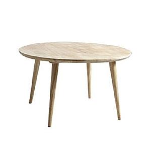 實木北歐簡約沙發圓型茶几75cm x 43cm 原木色
