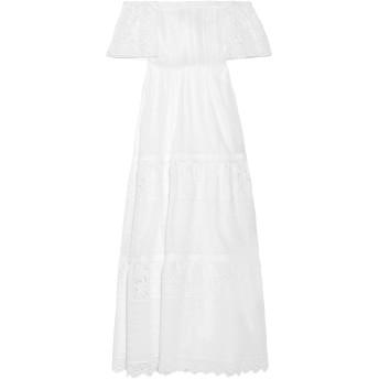 《セール開催中》VALENTINO レディース ロングワンピース&ドレス ホワイト 00 コットン 93% / ポリエステル 7%