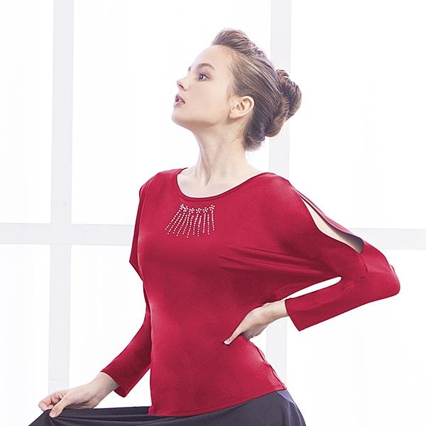 *╮寶琦華Bourdance╭*專業瑜珈韻律芭蕾**長袖上衣(內有裡襯附罩杯)【D18327】
